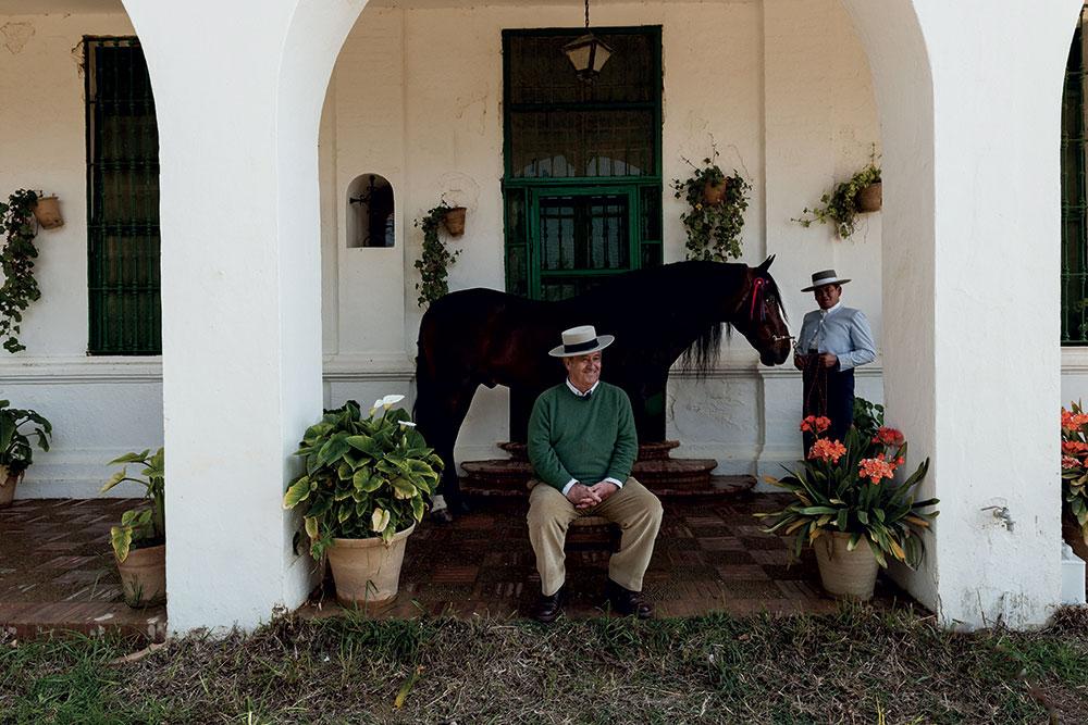 Don Jaime Guardiola Dominguez with horse Victorioso XIV (2003) with Javier Fuentes Muñiz