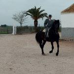 Vicente riding Tormento II
