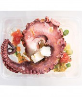 Octopus with green salsa