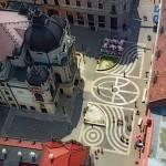 Pecs (Hungary) Aeriel theatre square