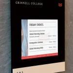 Grinnel College (USA); innovative digital signage solutions