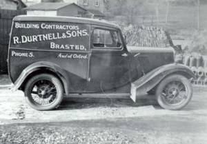 Old van of the British tre-centenarian building company, Durtnell & Sons